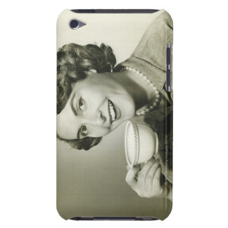 Woman Holding Cups Barely There iPod Case