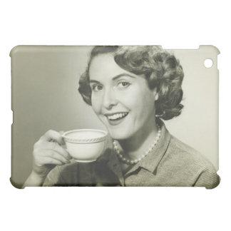 Woman Holding Cups iPad Mini Covers