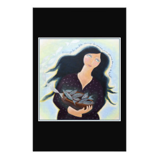 Woman Holding Fish in a Bowl On Black Custom Flyer