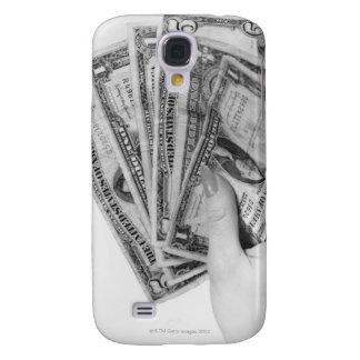 Woman Holding Money Galaxy S4 Case
