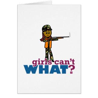 Woman Hunting Greeting Card