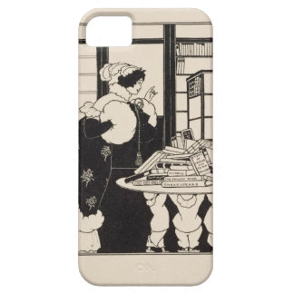 Woman in a Bookshop, design for a 'Yellow Book' co iPhone 5 Case