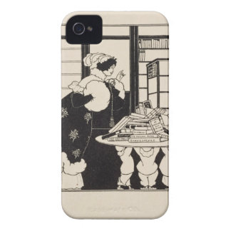 Woman in a Bookshop, design for a 'Yellow Book' co iPhone 4 Cover