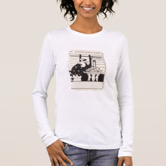 Woman in a Bookshop, design for a 'Yellow Book' co Long Sleeve T-Shirt