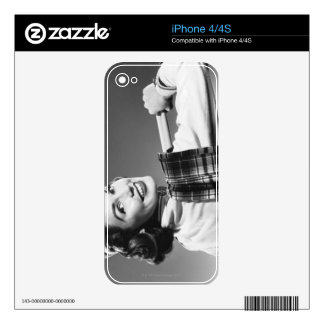 Woman in a Cap Decal For iPhone 4