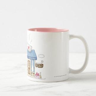 Woman in a coffee shop mug