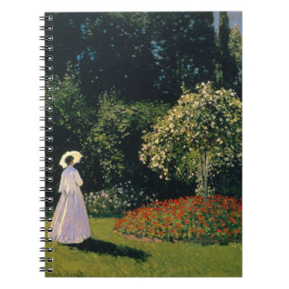 Woman in a Garden by Claude Monet Notebook