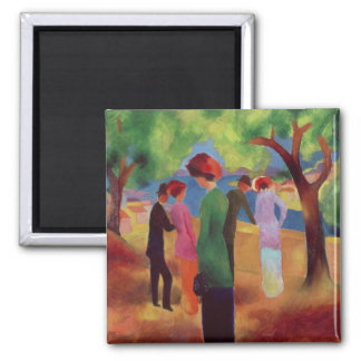 Woman in a Green Jacket, 1913 2 Inch Square Magnet
