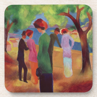 Woman in a Green Jacket, 1913 Drink Coaster