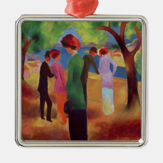 Woman in a Green Jacket, 1913 Christmas Ornament