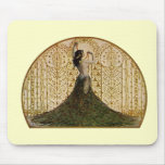 Woman in a Peacock Skirt Mouse Pad