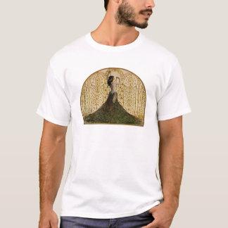 Woman in a Peacock Skirt T-Shirt
