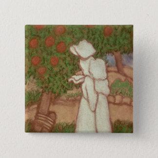 Woman in a White Dress, 1896 Pinback Button