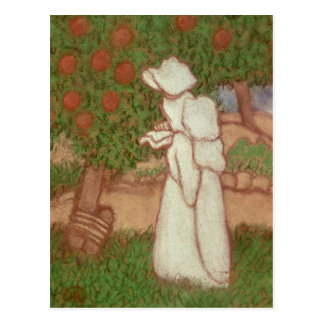 Woman in a White Dress, 1896 Postcard
