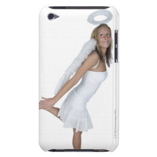 Woman in angel costume Case-Mate iPod touch case