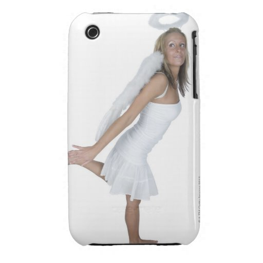 Woman in angel costume iPhone 3 cover