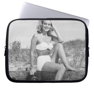 Woman in Bikini Laptop Sleeve