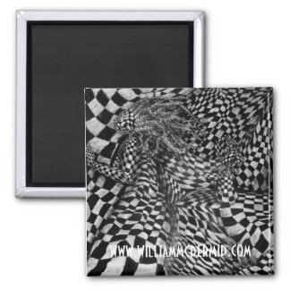 Woman in Black and White Fridge Magnet