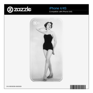 Woman in Black Corset Decal For iPhone 4S