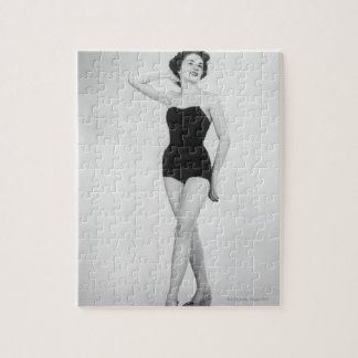 Woman in Black Corset Jigsaw Puzzle