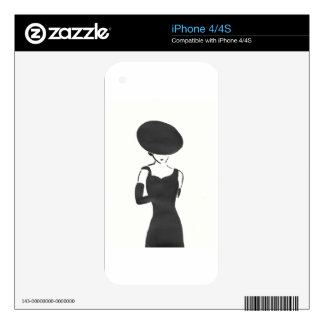 Woman in Black Decals For The iPhone 4S