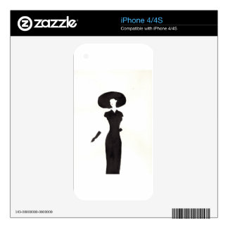 Woman In Black iPhone 4S Decal
