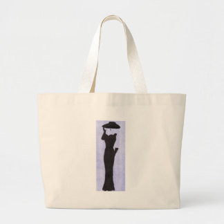 Woman In Black Large Tote Bag