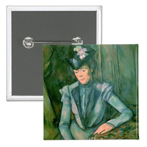 Woman in Blue  1900-02 Button