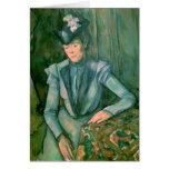 Woman in Blue  1900-02 Card
