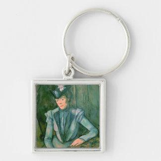 Woman in Blue  1900-02 Keychain