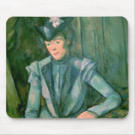 Woman in Blue  1900-02 Mouse Pad