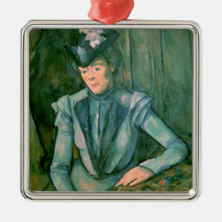 Woman in Blue  1900-02 Christmas Ornament