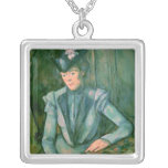 Woman in Blue  1900-02 Square Pendant Necklace