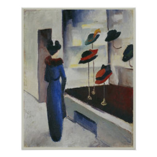 Woman in Blue at the Hat Shop 1913 August Macke Posters