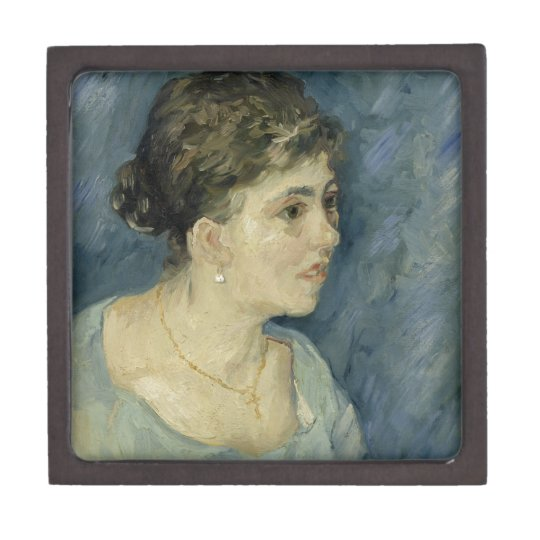 Woman in Blue by Vincent Van Gogh Jewelry Box