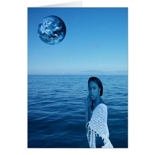 WOMAN IN BLUE CARD