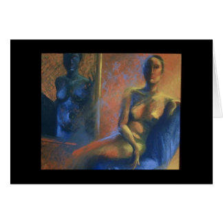 """Woman In Blue"" Card"