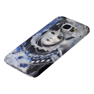 Woman in Blue Carnival Costume Samsung Galaxy S6 Case