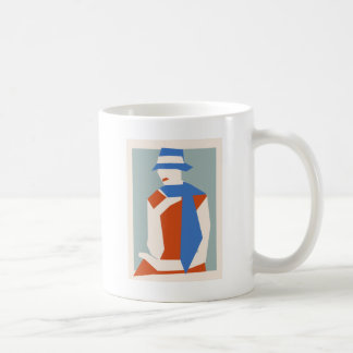 Woman In Blue Hat Coffee Mug