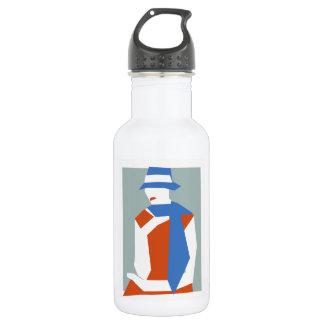 Woman In Blue Hat Water Bottle