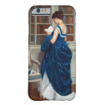 Woman in Blue, reading a Book Barely There iPhone 6 Case