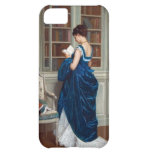 Woman in Blue, reading a Book iPhone 5C Case