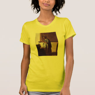 Woman in Blue Reading a Letter Tshirts