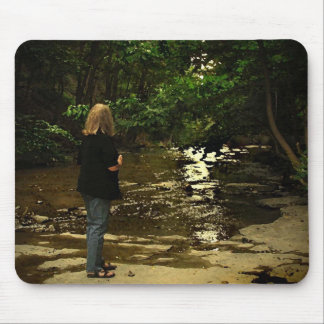 Woman in Cascadilla Gorge Mouse Pad
