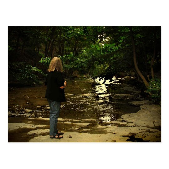 Woman in Cascadilla Gorge Postcard