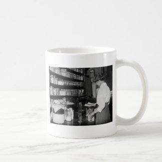 Woman in Chemistry Lab, 1910s Classic White Coffee Mug