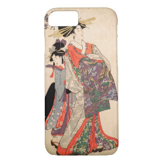Woman in colorful kimono iPhone 7 case