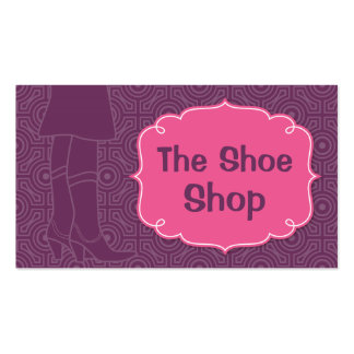 Woman in Cowboy Boots silhouette Business Card