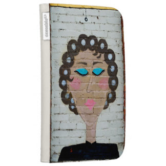 Woman in Curlers Kindle 3G Case