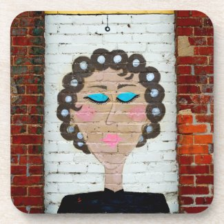 Woman in Curlers Coaster
